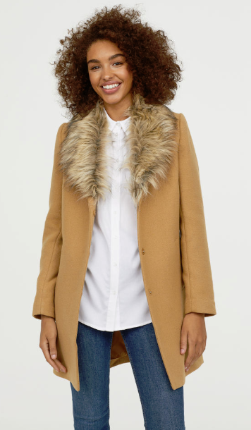 hm high street camel coats