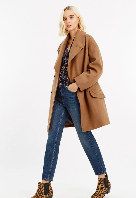 oasis high street camel coats