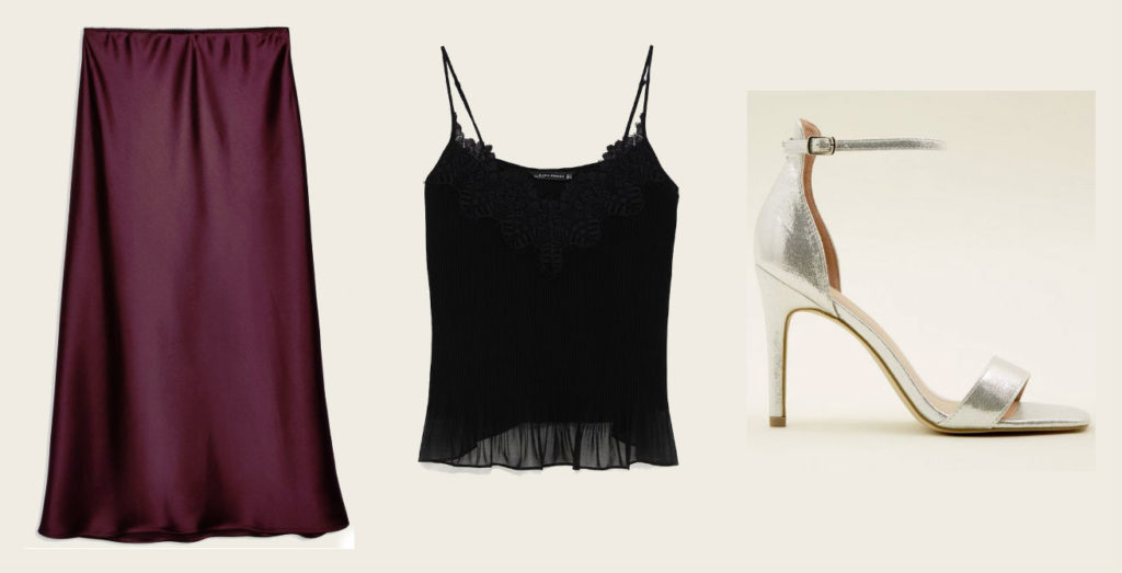 topshop cult slip skirt outfit