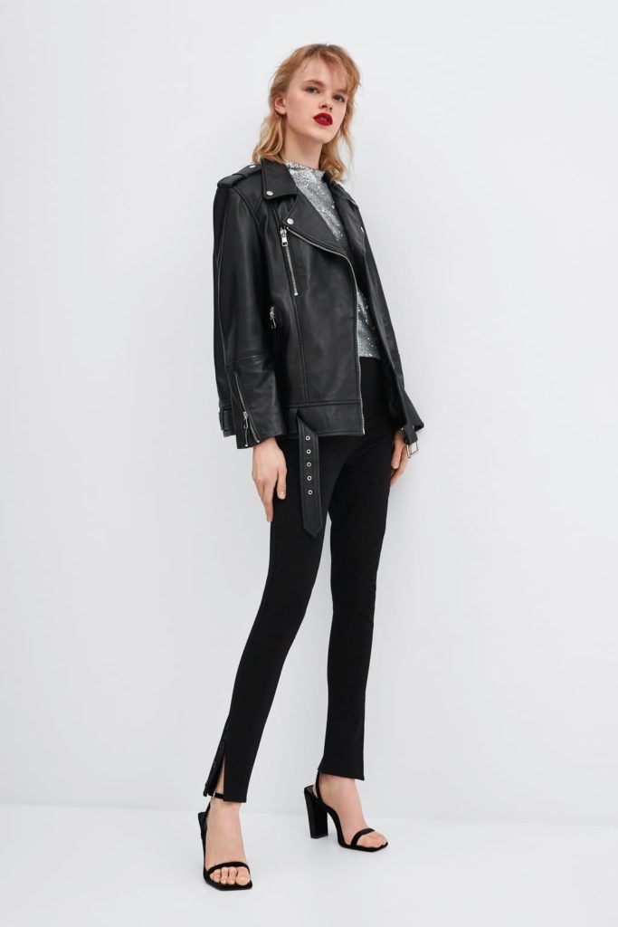 zara oversized leather jacket