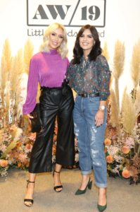 NO REPRO FEE 25/09/2019 Rosie Connolly and Bonnie Ryan pictured at the Littlewoods Ireland Autumn/Winter press show in The Marker Hotel, Dublin. Littlewoods Ireland has unveiled a new collection of key trends for Autumn/Winter 2019 with looks comprised of V by Very, as well as a selection of high-street favourites. #VbyVeryAW19 Photograph: Leon Farrell / Photocall Ireland