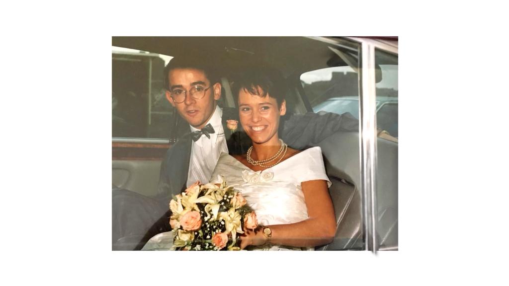 Cyril & Edel on their wedding day