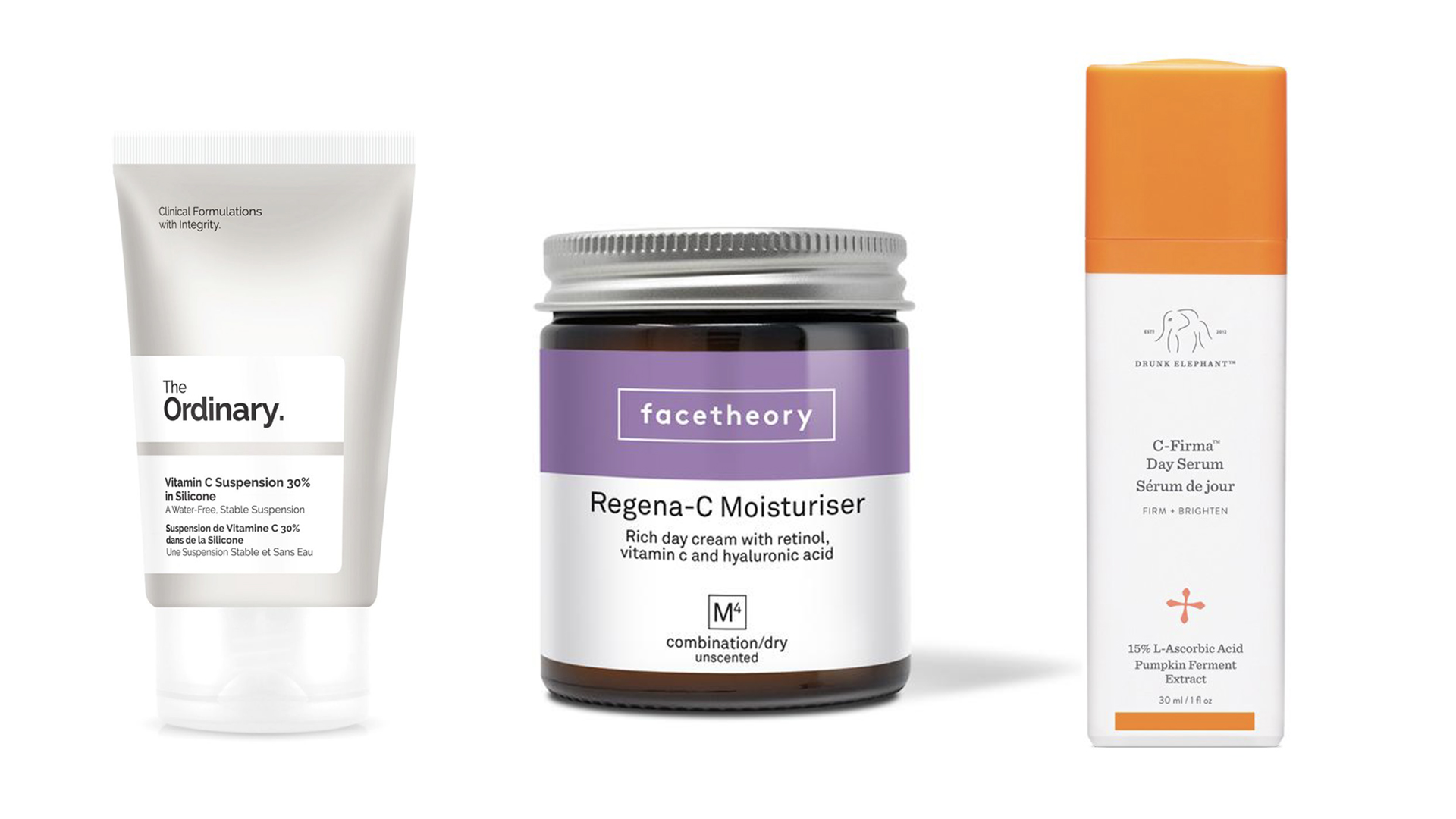 Skincare Products with Vitamin C